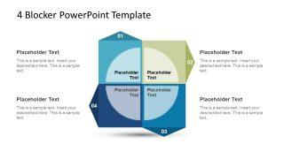 4 Blocker Style PowerPoint Slide 2