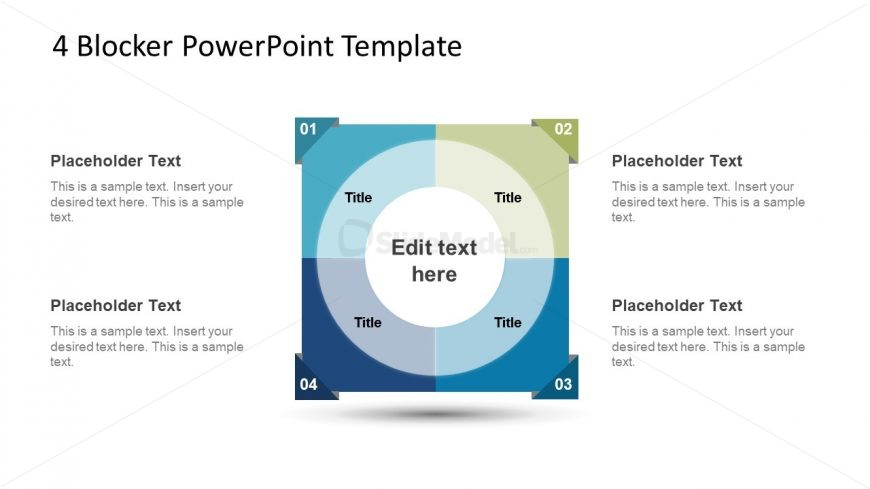4 Blocker Style PowerPoint Slide 4