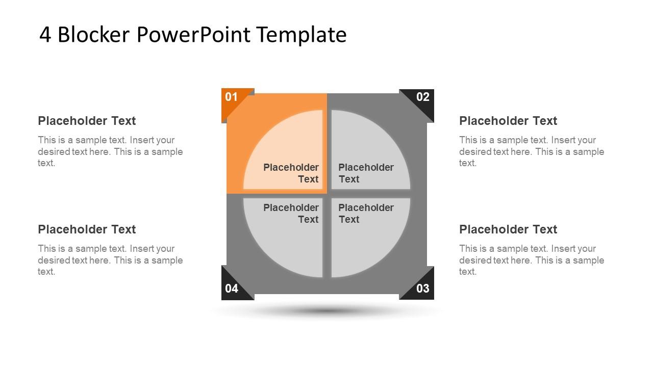 4 Blocker Style PowerPoint Slide 5