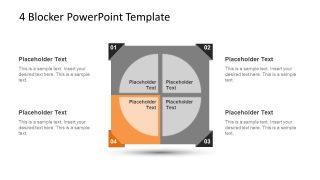 4 Blocker Style PowerPoint Slide 8