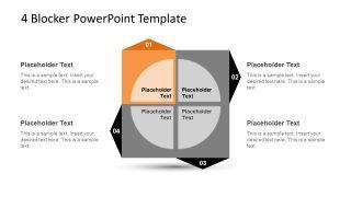 4 Blocker Style PowerPoint Slide 9