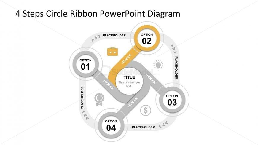 Slide 1 4 Ribbon Circle Diagram