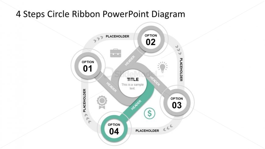 Slide 1 4 Ribbon Circle Diagram