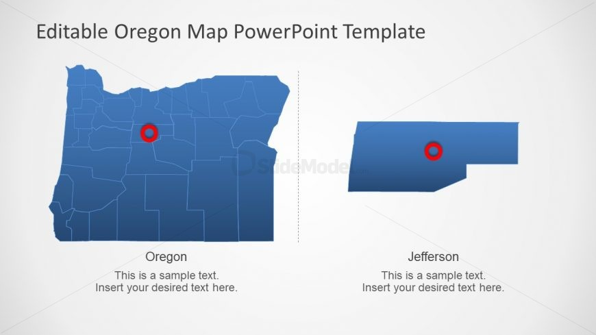 PPT Slide of Oregon State Counties