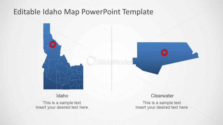Editable Counties of Idaho PowerPoint