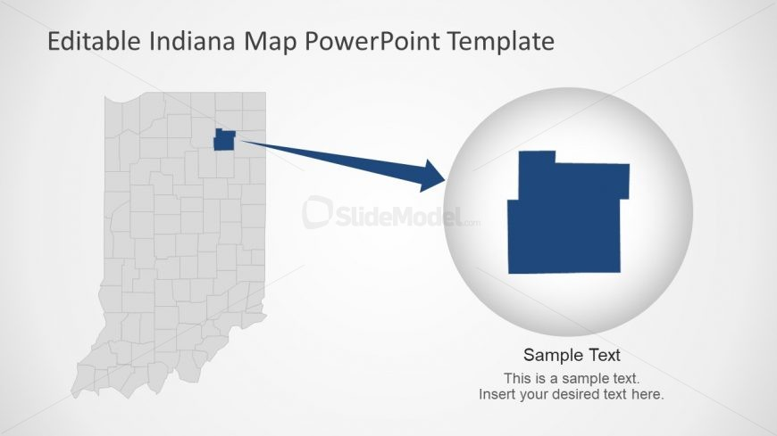 PPT Indiana Template with Counties