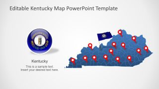Slide of Flag and Map Kentucky