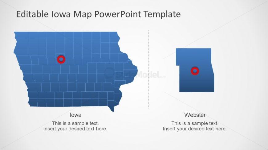 America State Iowa Map