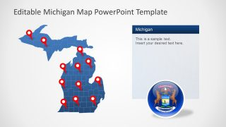 PowerPoint Silhouette Map of Michigan