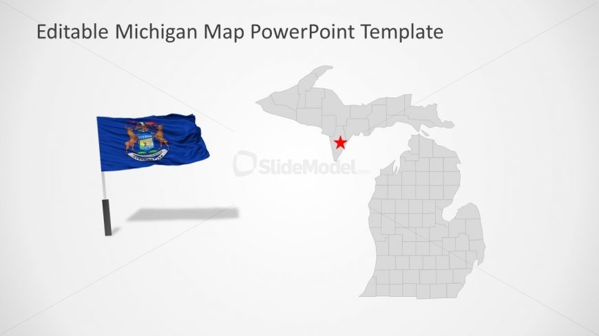 Editable Michigan Map PPT