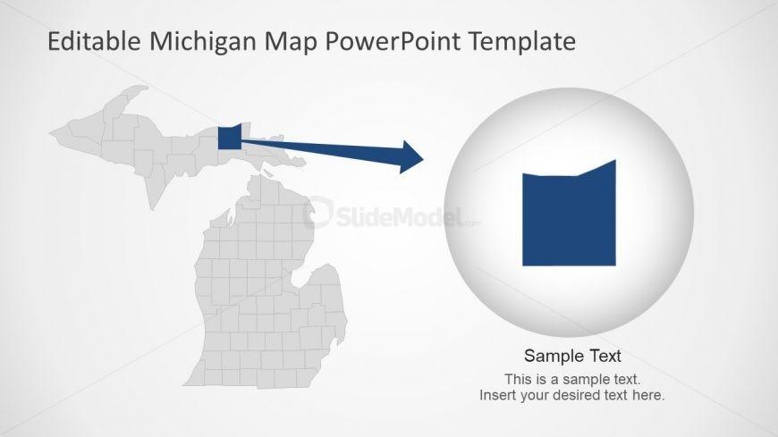 USA Map of Michigan PPT