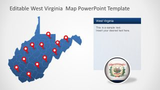 PPT West Virginia Map Template