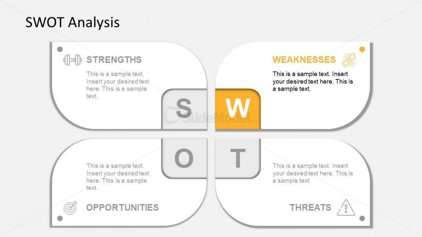 Slide of Weaknesses Infographic PowerPoint