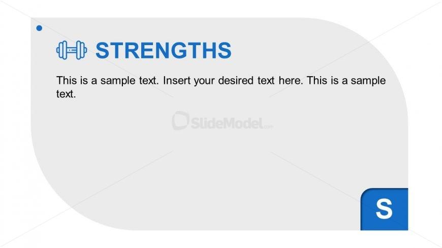 Infographic Editable SWOT Analysis Strengths