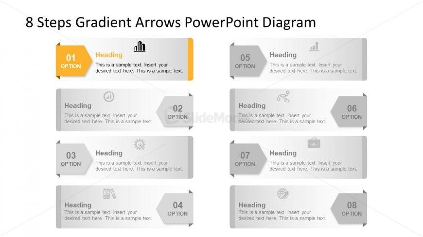 Template of 8 Arrow PowerPoint Diagram