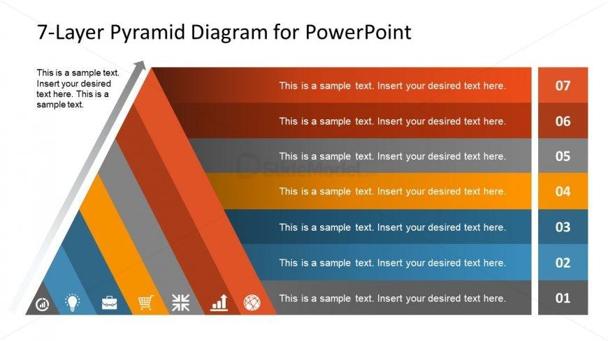 Agenda Style Pyramid Diagram
