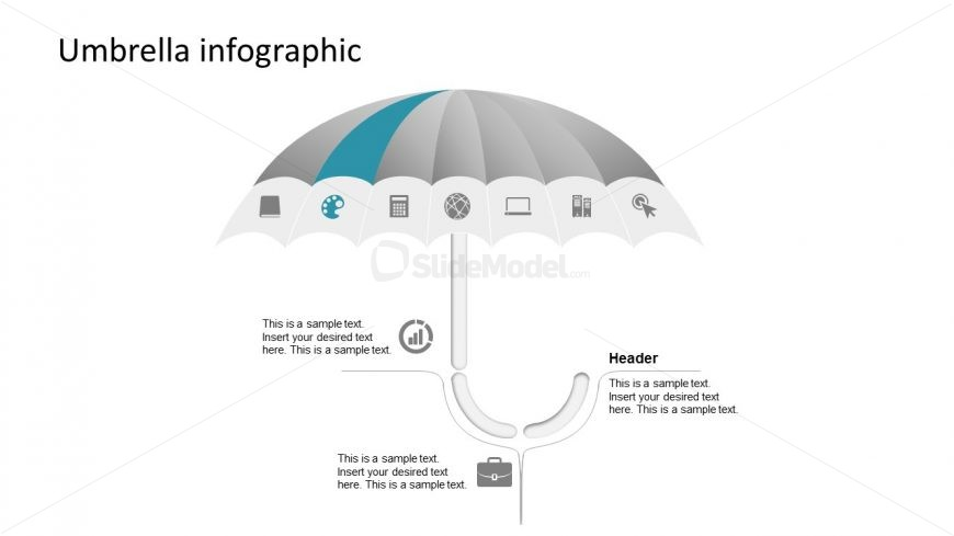 Editable PowerPoint Umbrella Shapes
