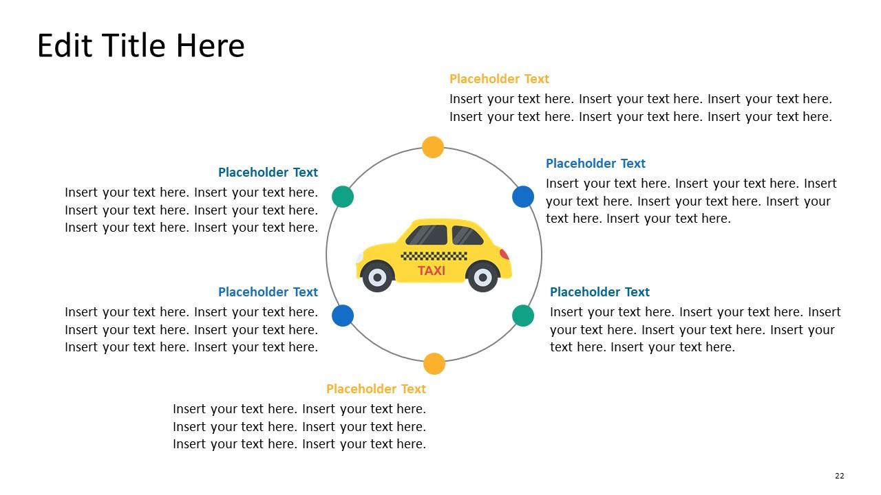 Template of 4 Steps Circular Diagram
