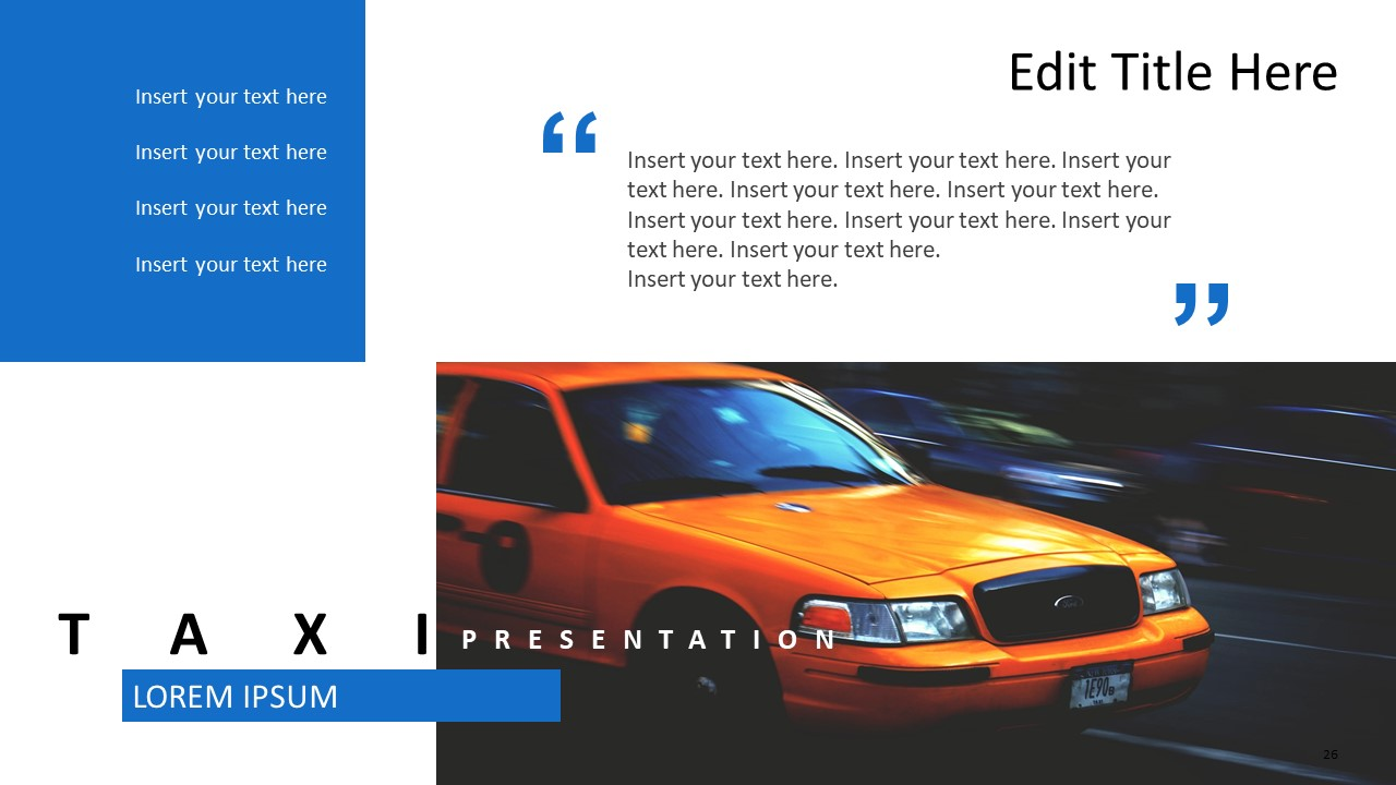 Contents Layout Design Taxi Themes