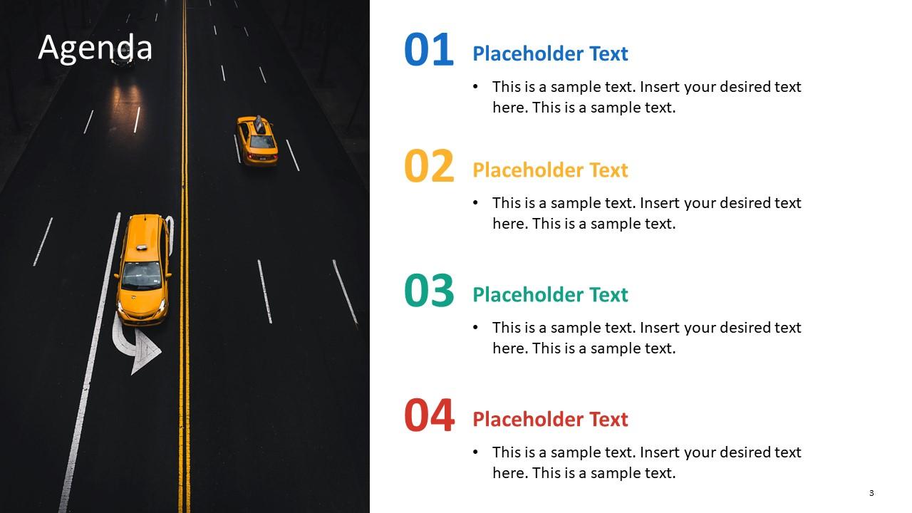 Presentation of Taxi Agenda Slide