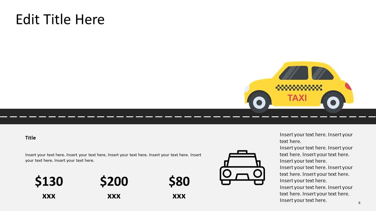 Taxi Roadmap Template Diagram