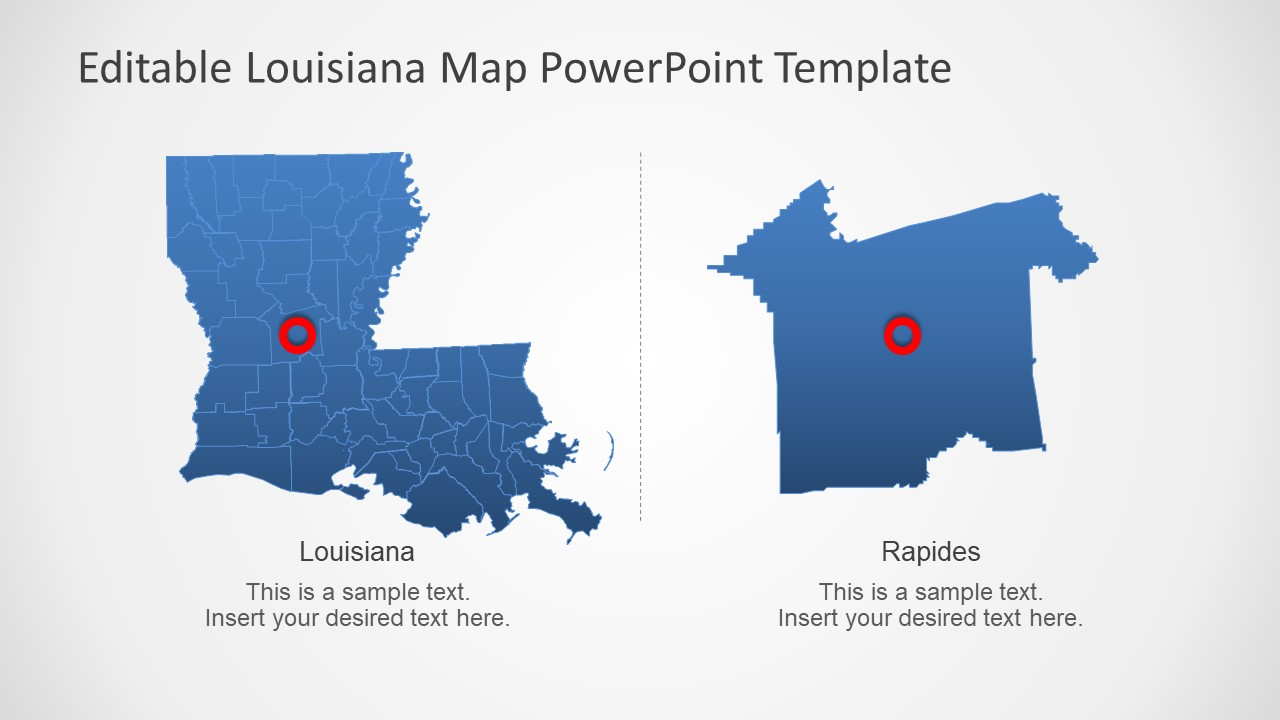 PPT Map of Louisiana State