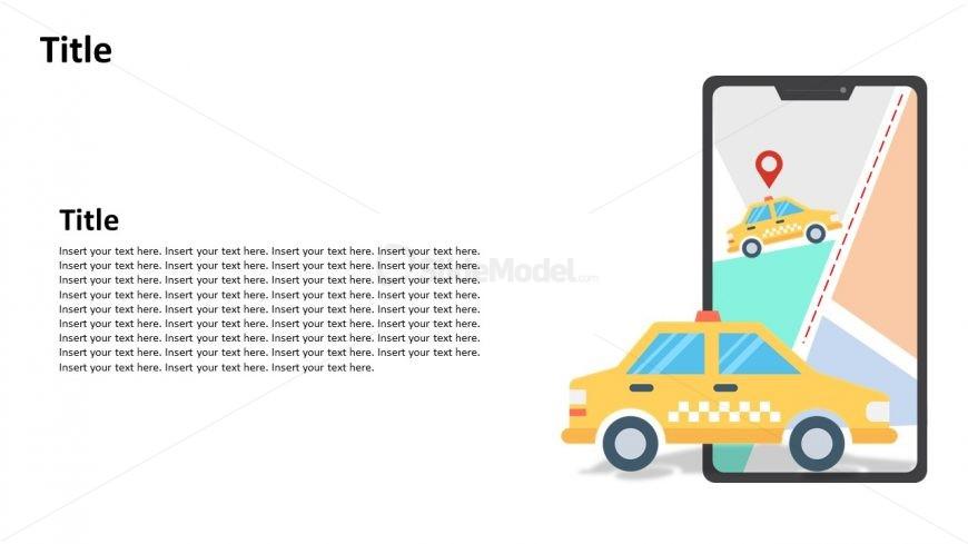 Slide of Ride Hailing Application Use