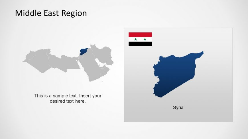 Silhouette Map of Syria Middle East