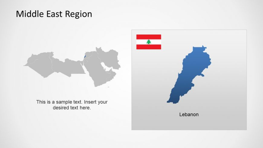 Silhouette Map of Lebanon Middle East