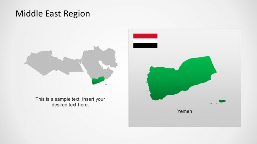 Silhouette Map of Yemen Middle East