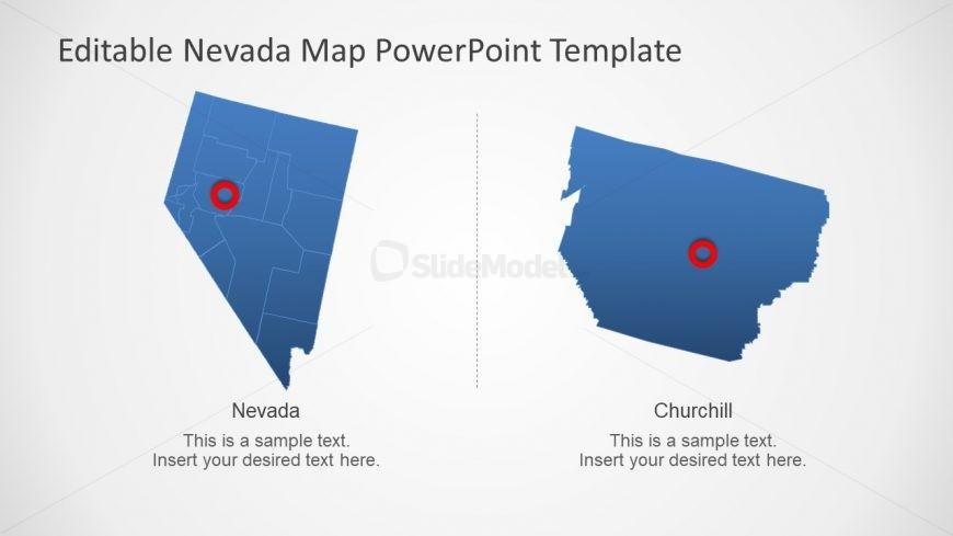 Editable Map Template of Nevada