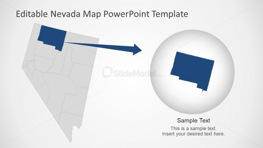 Flat PowerPoint Editable Nevada Map
