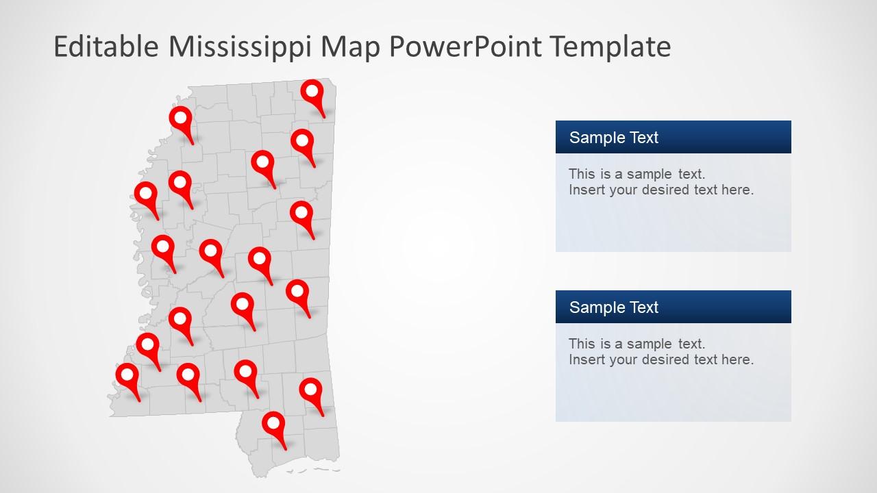 Presentation of Mississippi Map