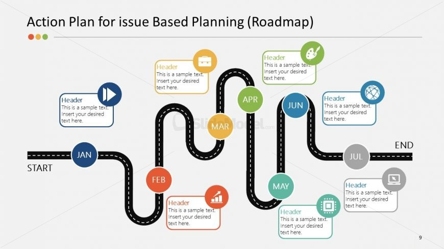 Roadmap Template Strategy Planning PowerPoint