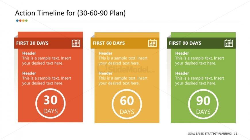 PowerPoint 30-60-90 Days Plan Segments
