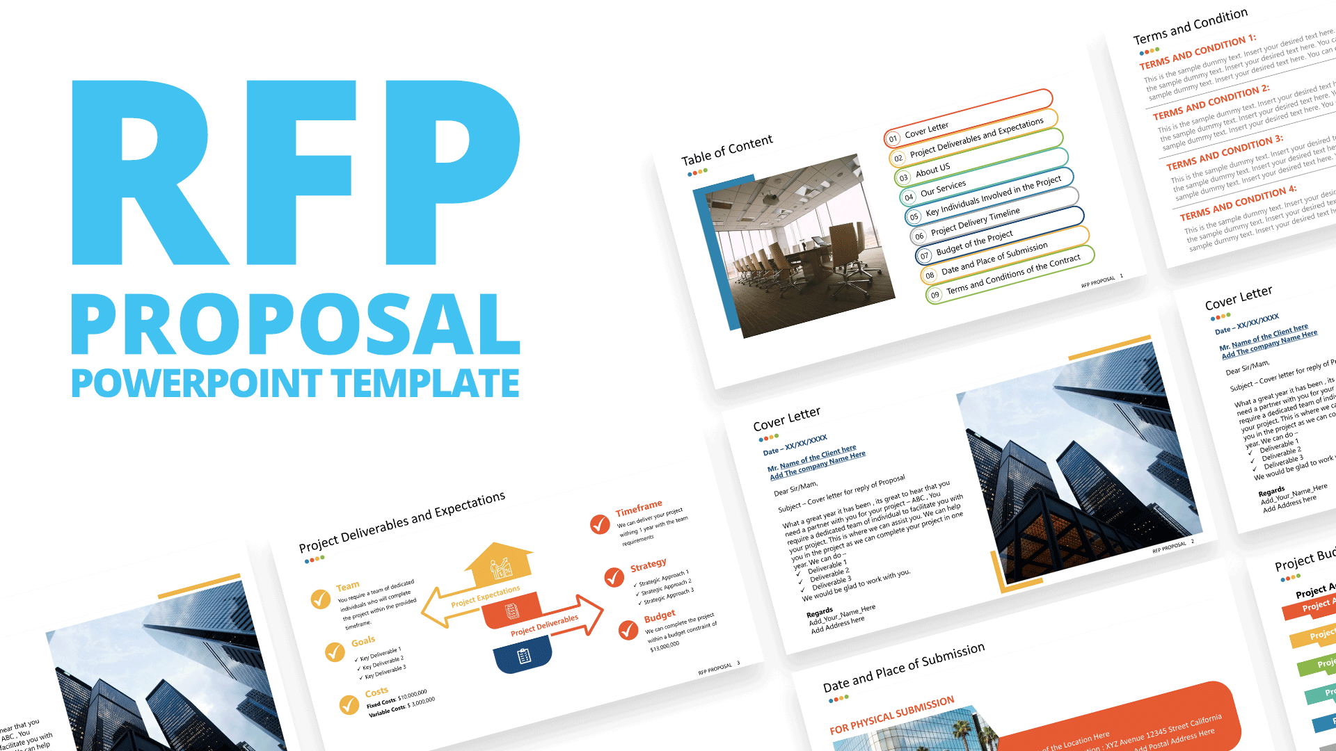 PPT Templates for RFP Proposal