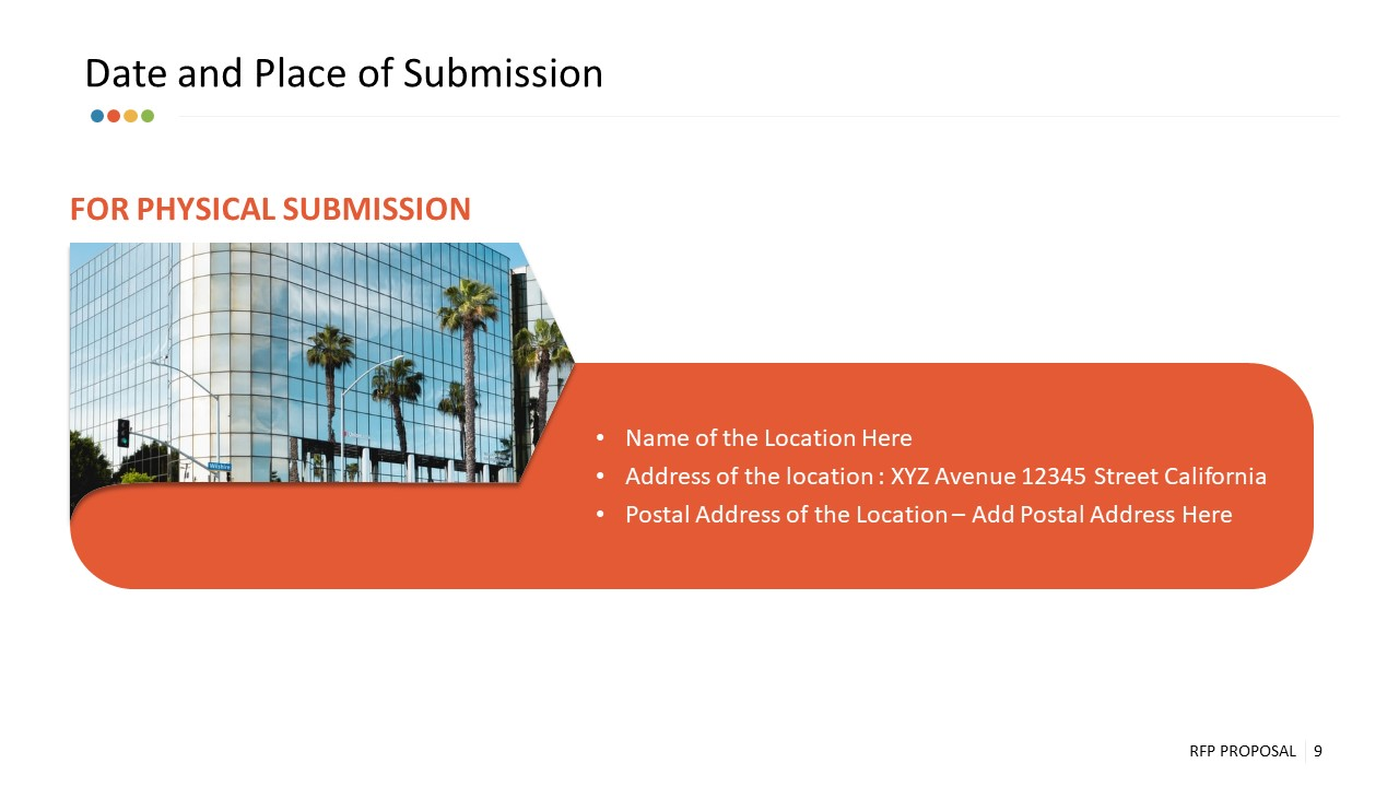 PowerPoint Date and Place of RFP Submission