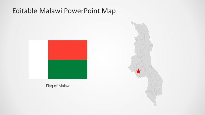 Location Marker for Malawi Map