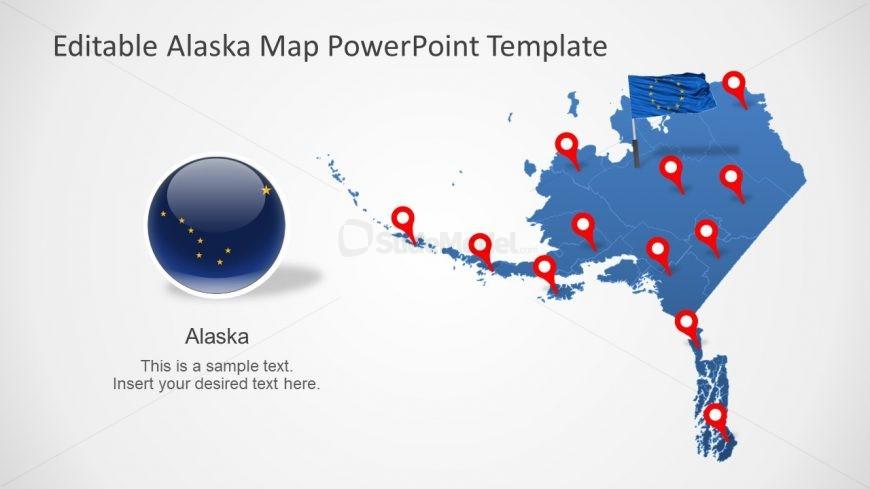 Flag and Map of Alaska