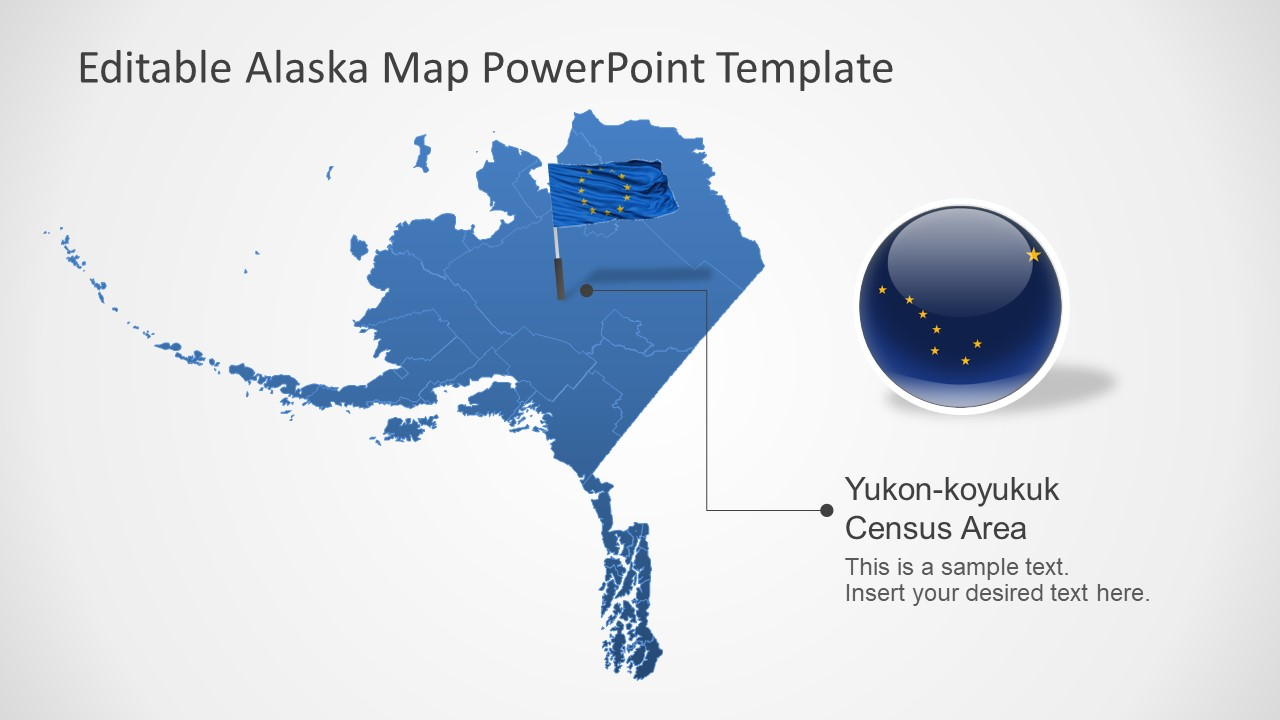 US State of Alaska in PowerPoint