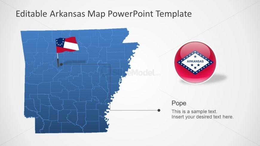 Arkansas PowerPoint County Map