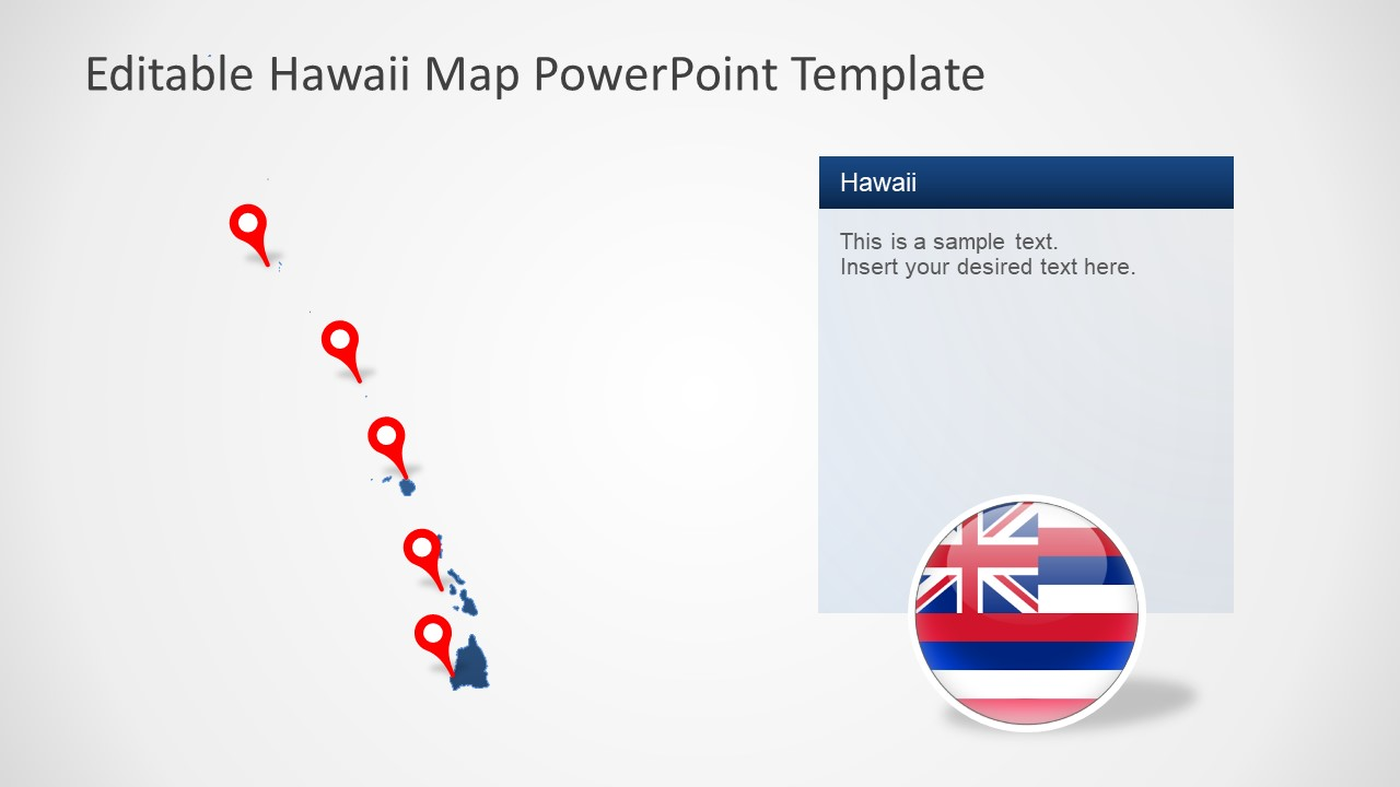 Editable Maps of Hawaii PowerPoint