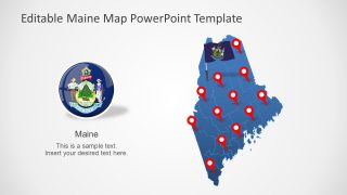 Flag of Maine US State and Map
