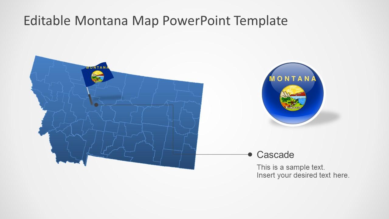 USA State of Montana Map