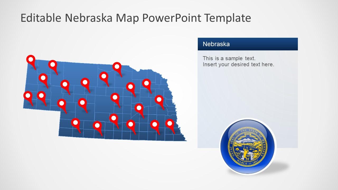 Outline Map of Nebraska Counties