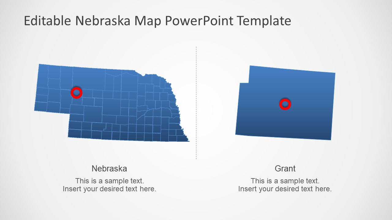 Editable Nebraska Political Map