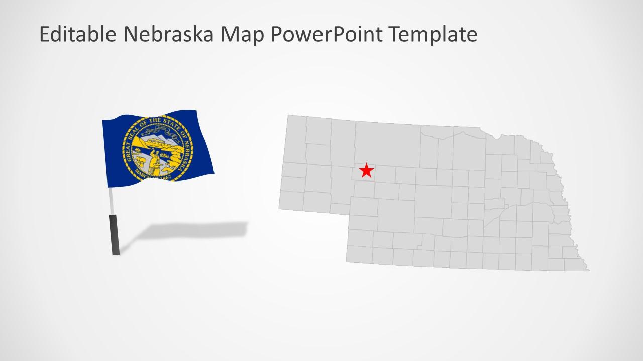 PowerPoint Map of Nebraska Outline