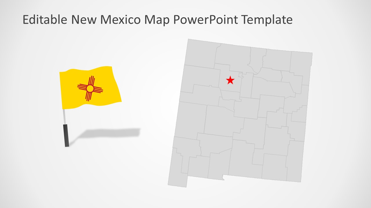 PowerPoint US State Map template for New Mexico