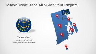 Editabe Map of Rhode Island State