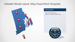 Editable Map of Rhode Island in PowerPoint